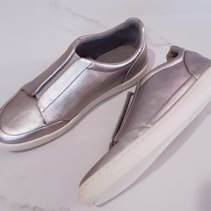 ♥️HOST PICK♥️ Zara Basic metallic silver slip ons